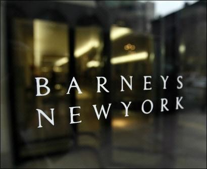 Barneys New York logo on storefront