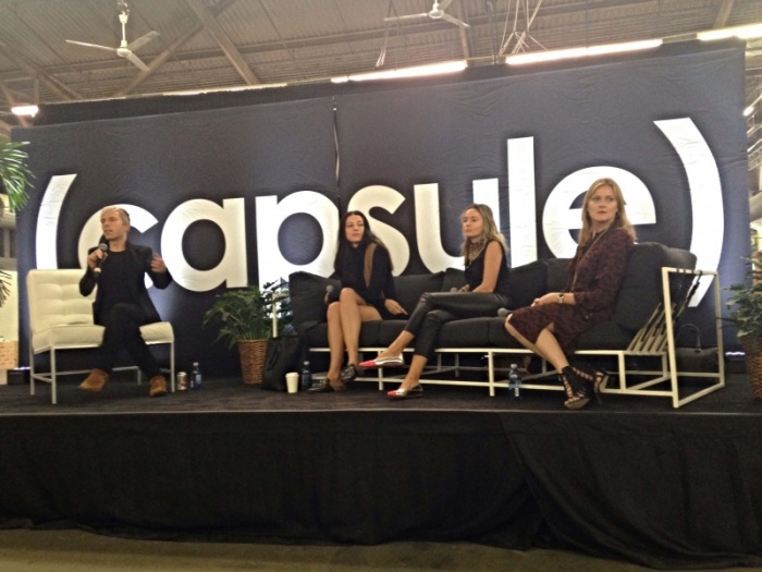 Capsule show panel discussion about building consumer loyalty with Reformation, Havas LuxHub and Farfetch