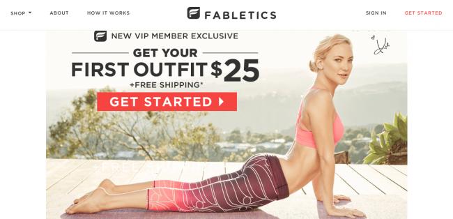 Fabletics website