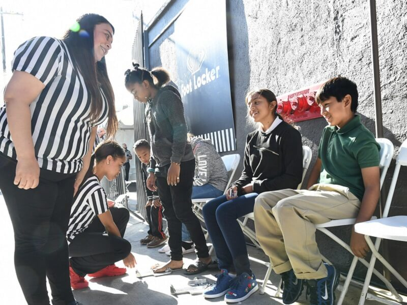 Foot Locker Donates Shoes
