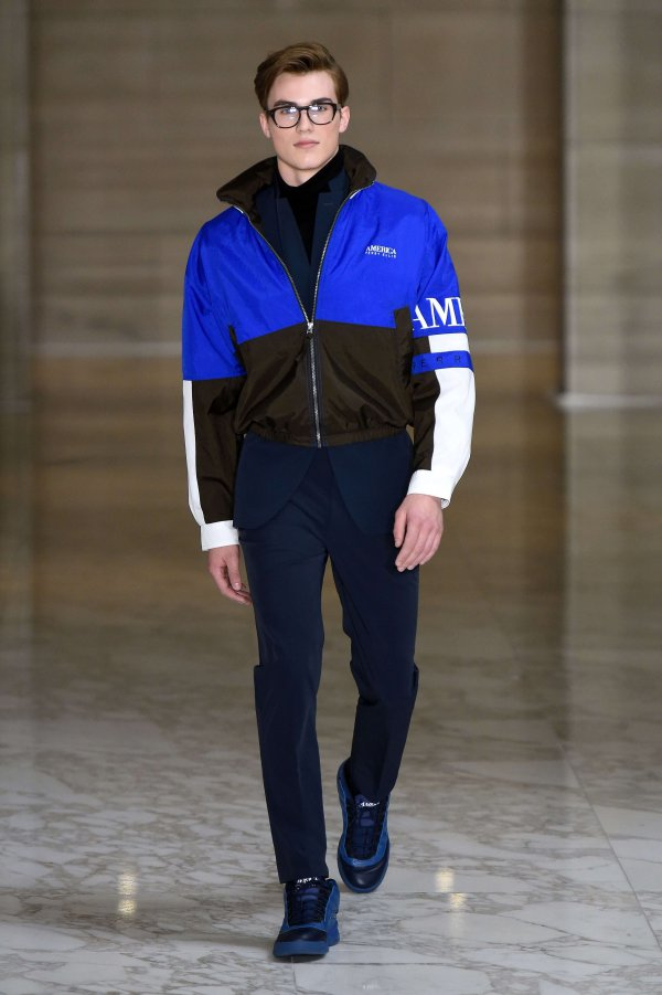 Perry Ellis men's runway shot