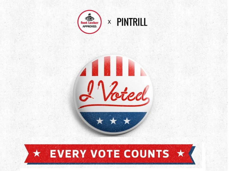 Foot Locker and Pintrill Team Up for Election Day Pins
