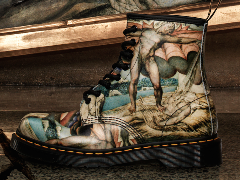 Art Tate Shoes dr. martens & tate britain collaborate to create wearable art