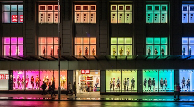 Uniqlo store front colorful image