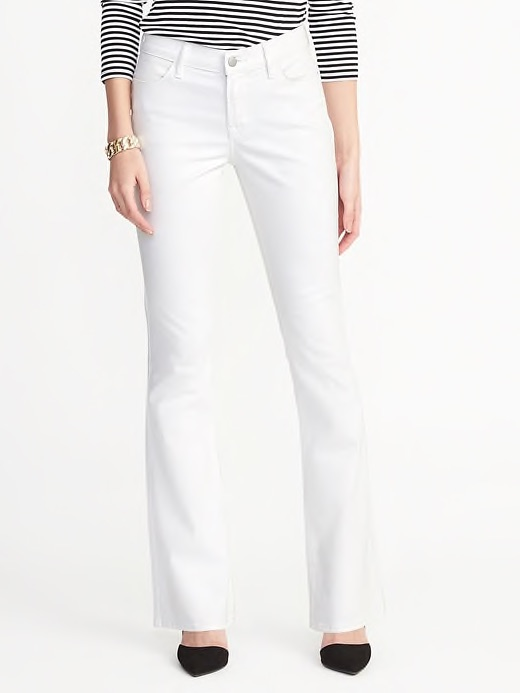 Stain reistant micro flare jeans