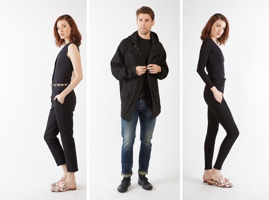 people in black jeans