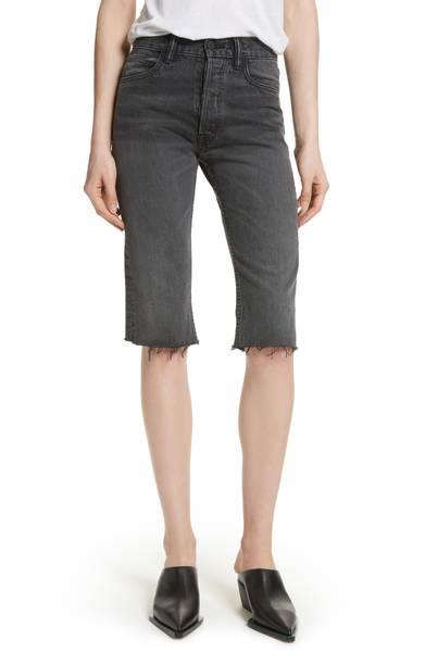 Cut-off knee shorts