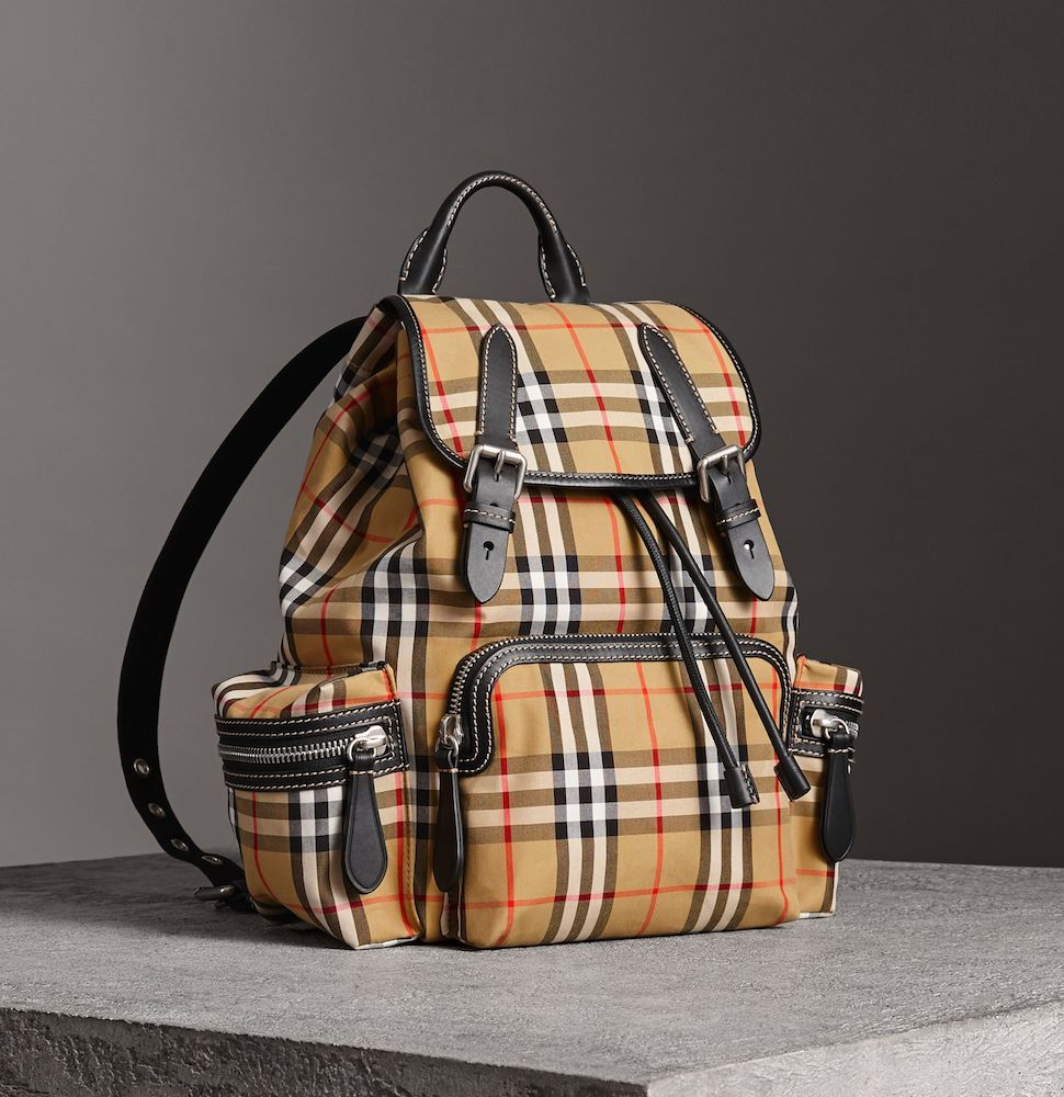 Burberry medium rucksack with vintage check