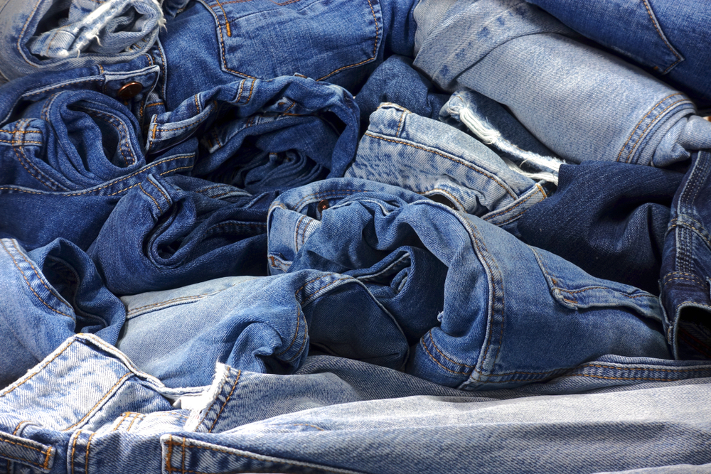 pile of denim