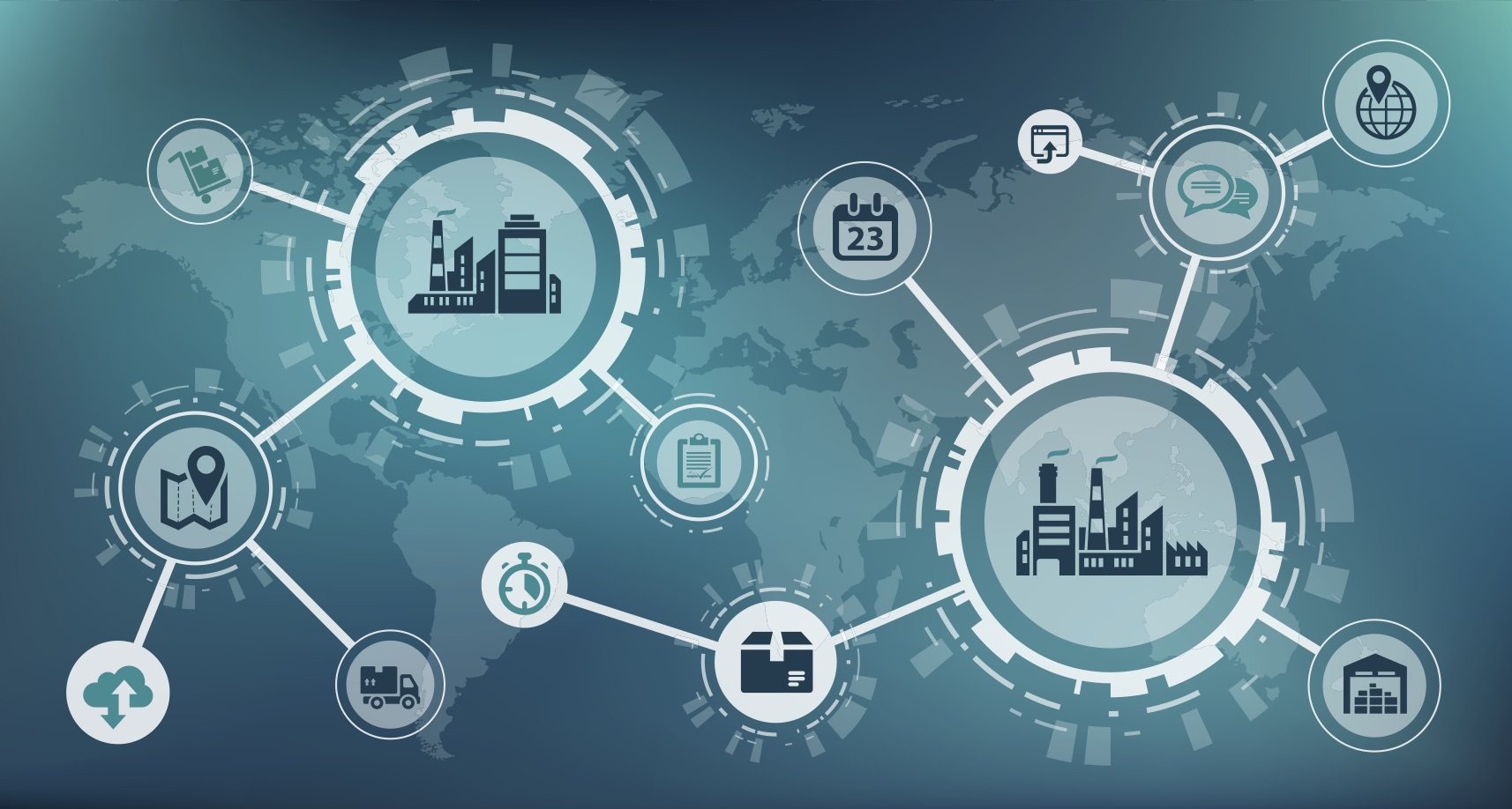 supply chain connection graphic