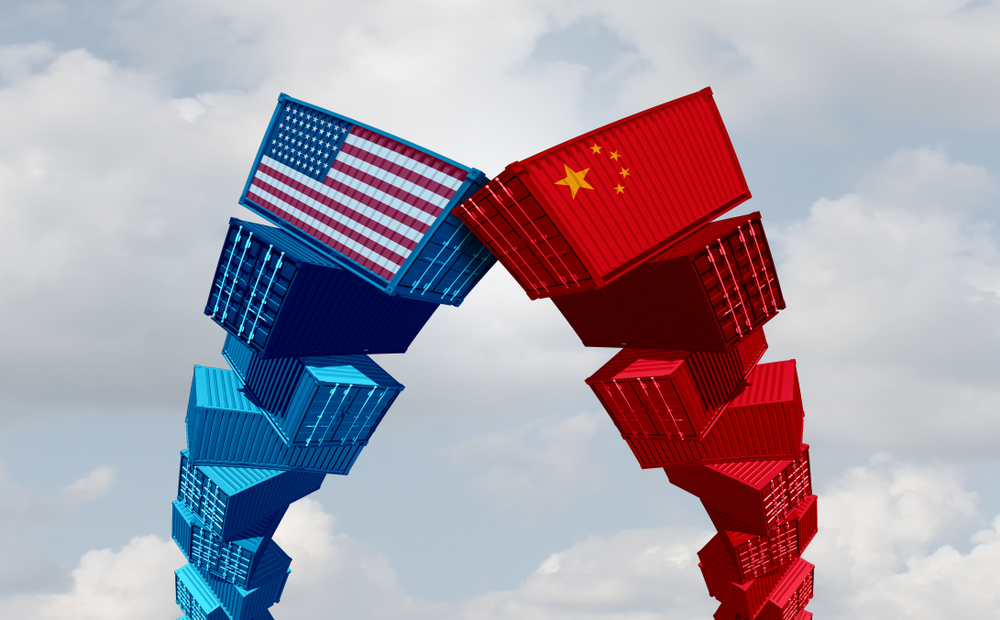 US China trade face-off graphic