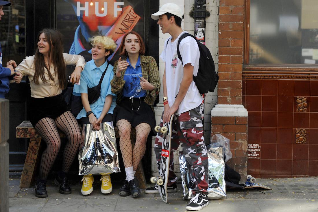teenagers on street