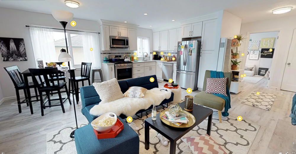 Walmart's new 3D virtual home tour offers shoppers a look at how curated products appear in a home environment.