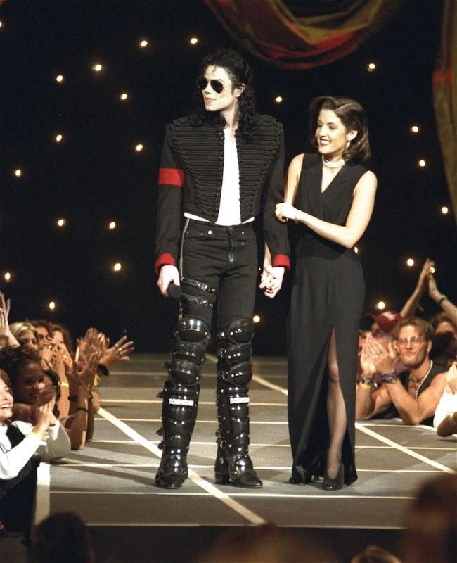 Michael Jackson and Lisa Marie Presley in 1994