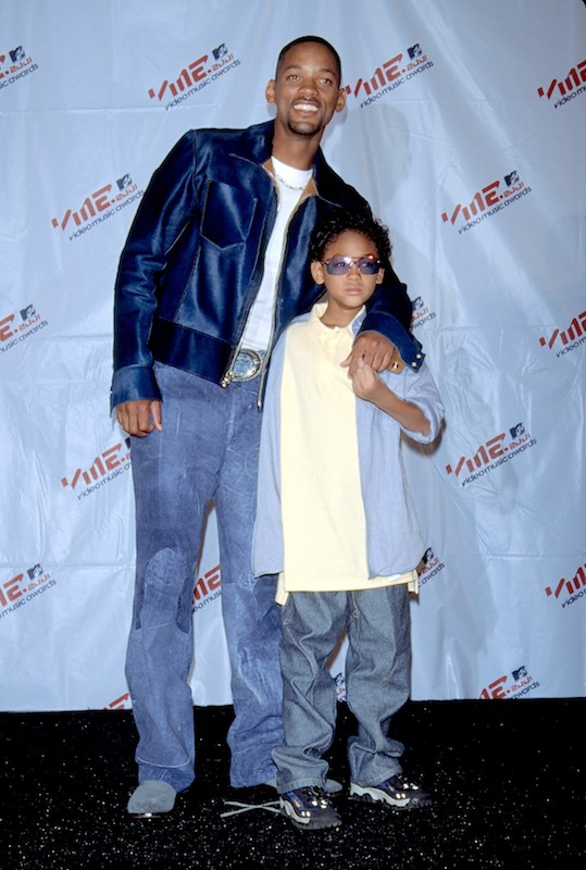 Will Smith and son Trey in 2001