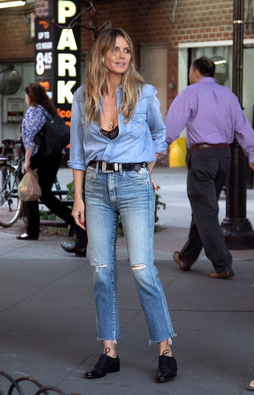 Heidi Klum in Amo jeans