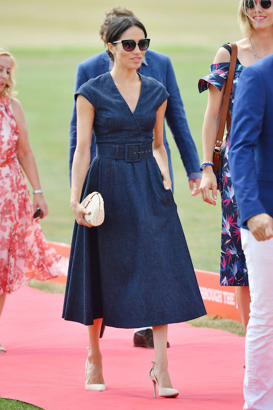 Meghan Duchess of Sussex wearing Carolina Herrera