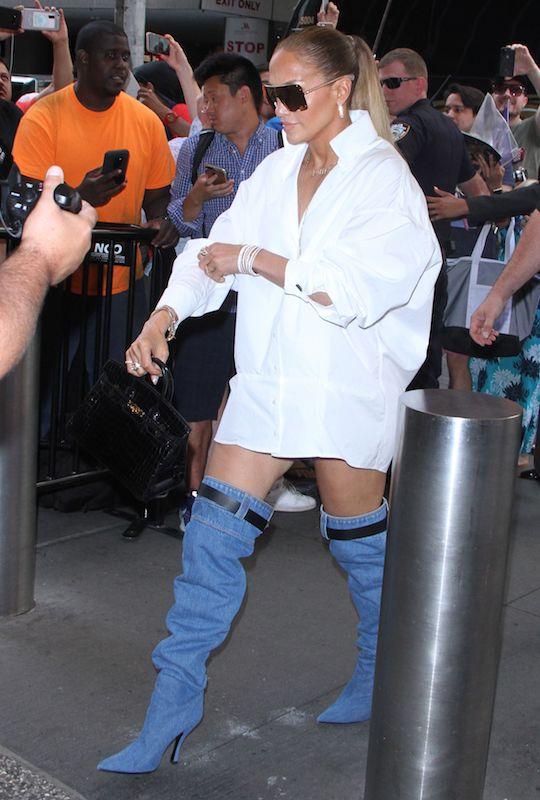 Jennifer Lopez in Versace boots