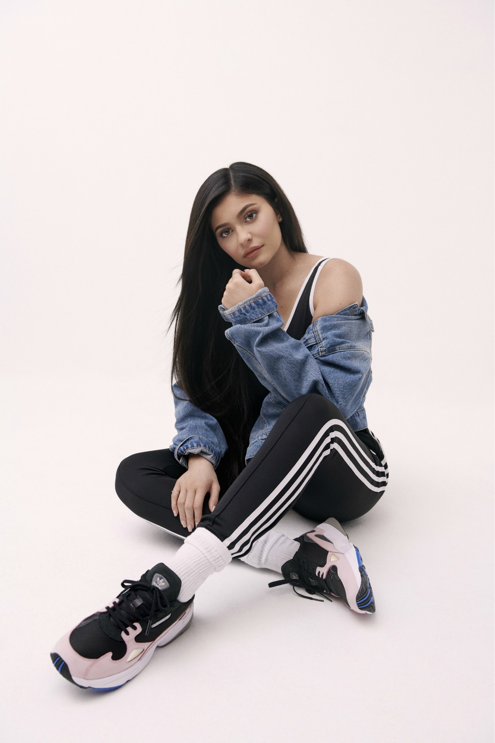 Kylie Jenner and the Adidas Originals Falcon both were born in the same year.