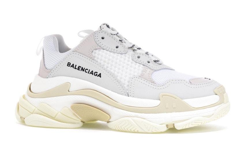 5.Balenciaga Triple S (White, 2018 reissue)