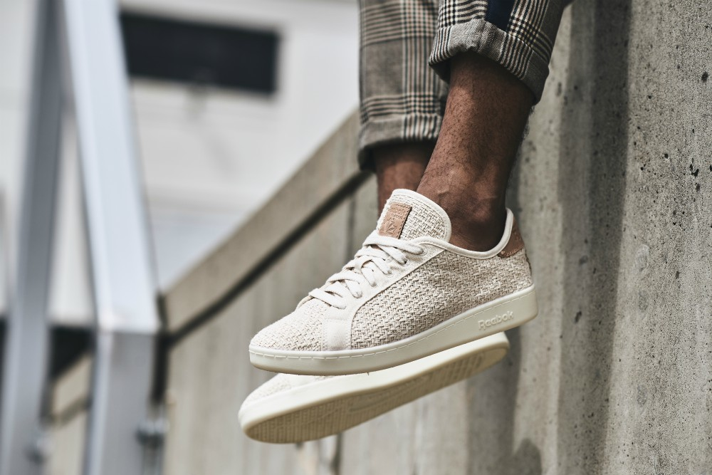 "The ""super, super simple"" upper is made entirely from organic cotton and cotton stitching sourced out of India through the Better Cotton Initiative, resulting in a shoe whose primary materials once were living, breathing plants."