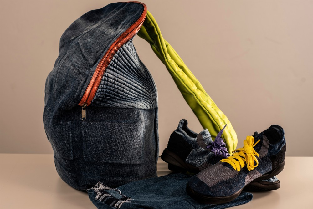 """The companies collaborated using 3-D knitting technology and Lenzing's Tencel fiber to create a """"superperforming"""" backpack."""