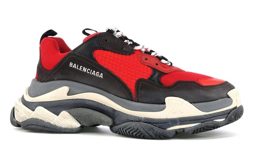 8. Balenciaga Triple S 'Red/Black'