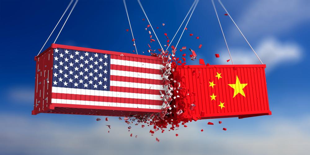 China US trade war graphic