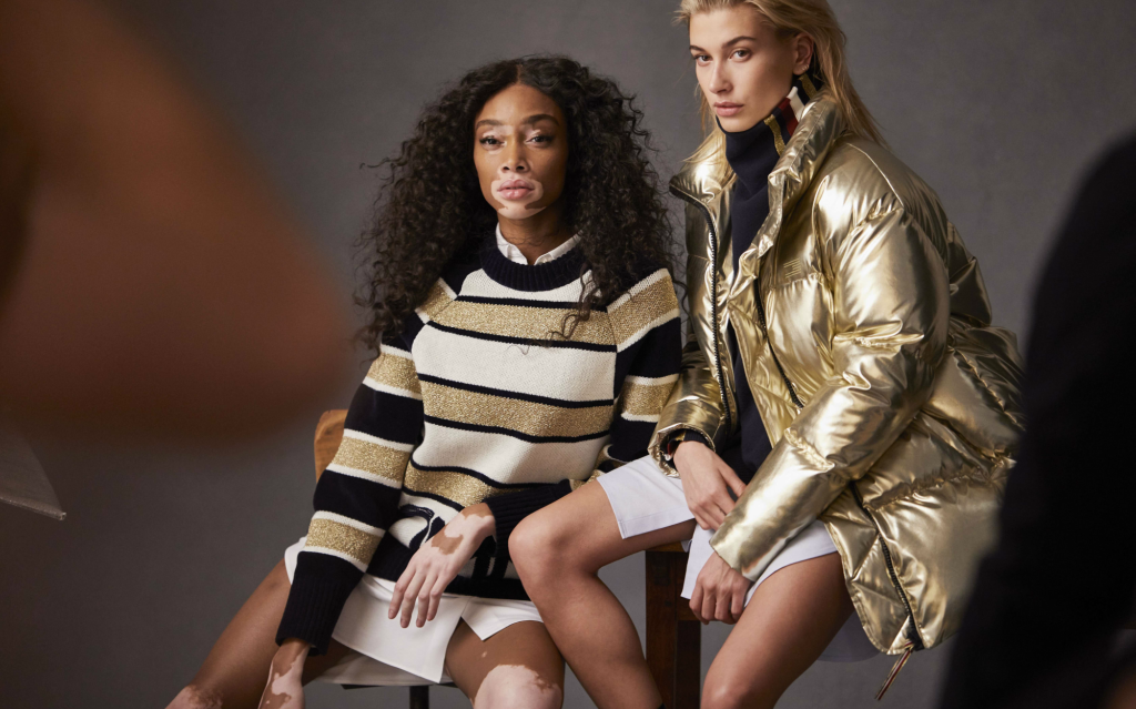 Winnie Harlow and Hailey Baldwin for Tommy Hilfiger