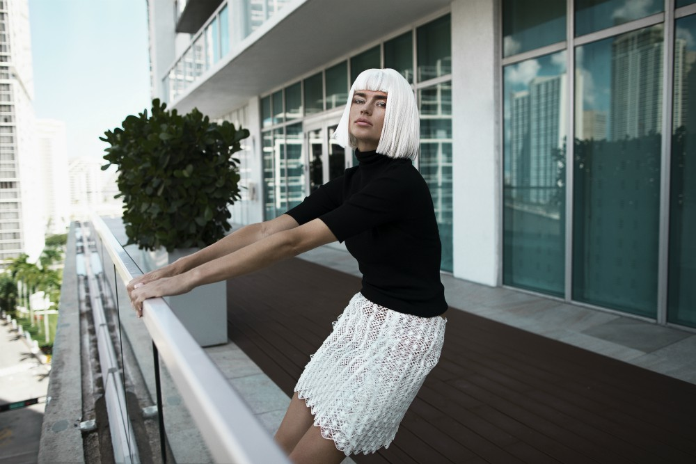 The world's first 3-D-printed lace skirt. Inspired by the shapes of coral reef and a skirt from one of the most popular looks from Sex and the City's Carrie Bradshaw.