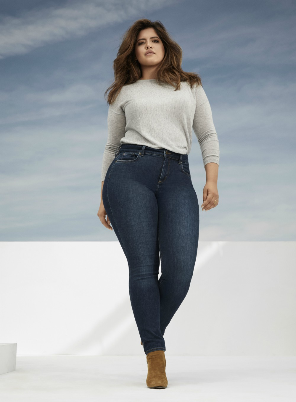 Thirty-year-old Denise Bidot, born in Miami, is of Puerto Rican and Kuwaiti descent and has modeled for straight- and plus-size fashion brands.