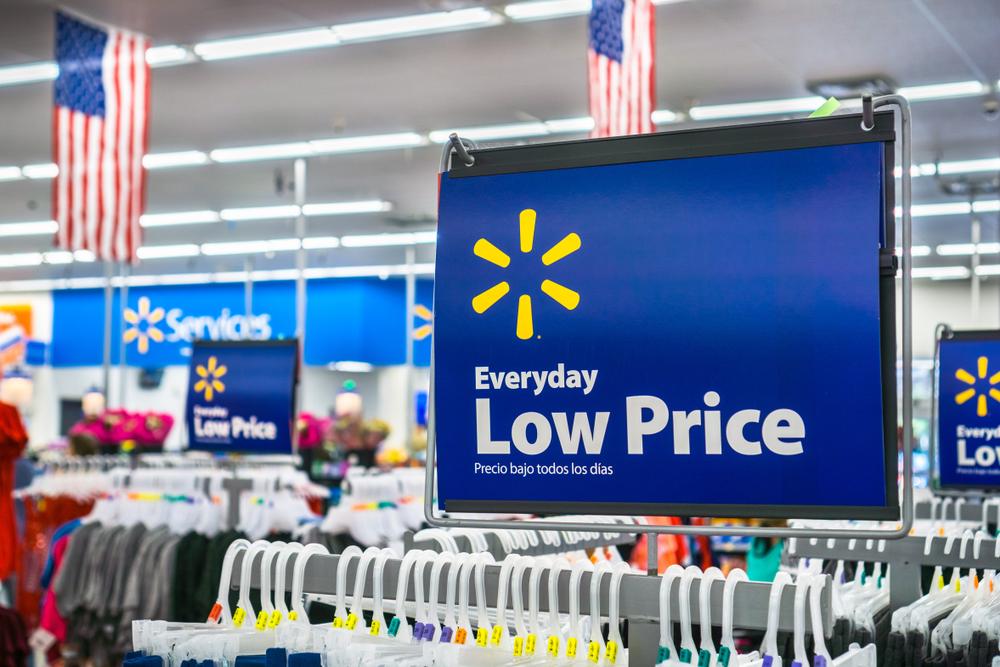 Inside of a Walmart store