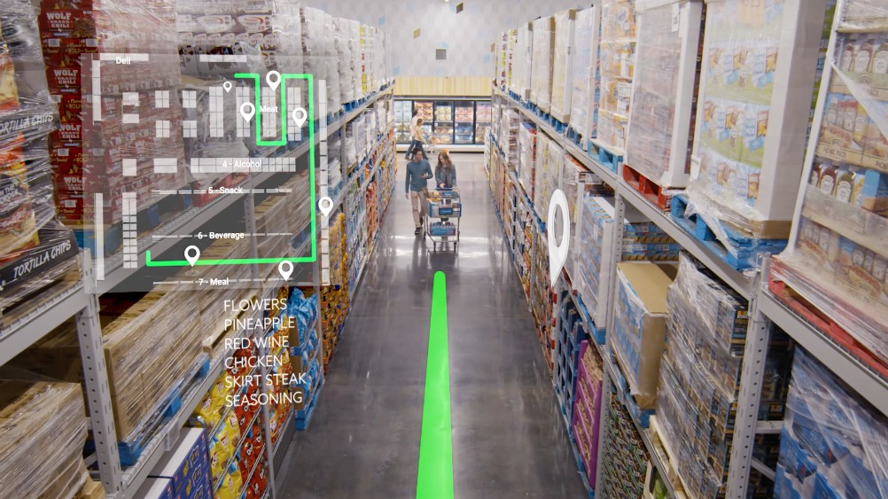 """A new small-format Sam's Club Now store in Dallas serves a """"technology lab"""" that tests mobile-powered future shopping innovations."""