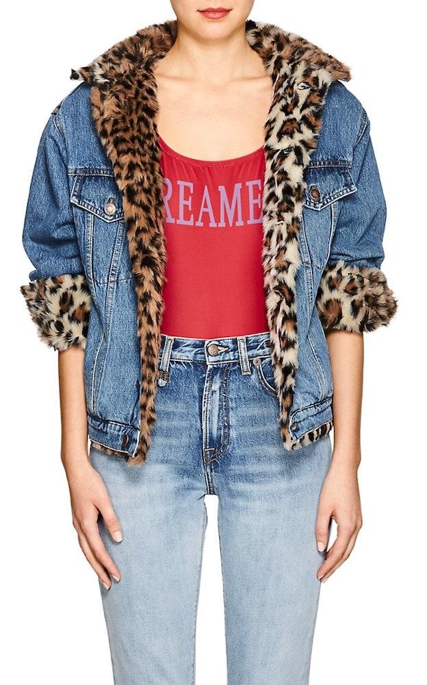 Forte Dei Marmi Couture faux fur jean jacket
