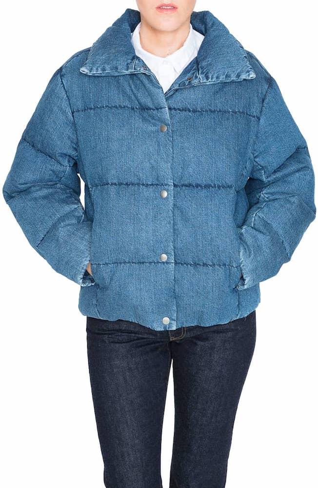 PRPS denim bown puffer jacket