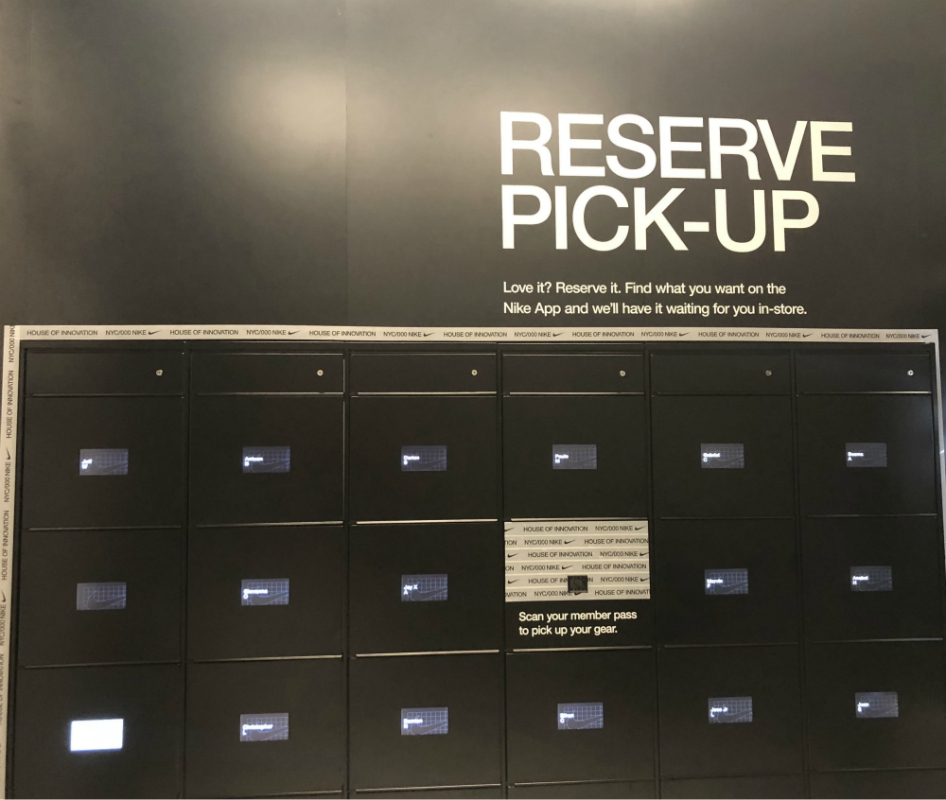 Customers can order ahead and reserve their items for placement in the reserve pick-up locker.