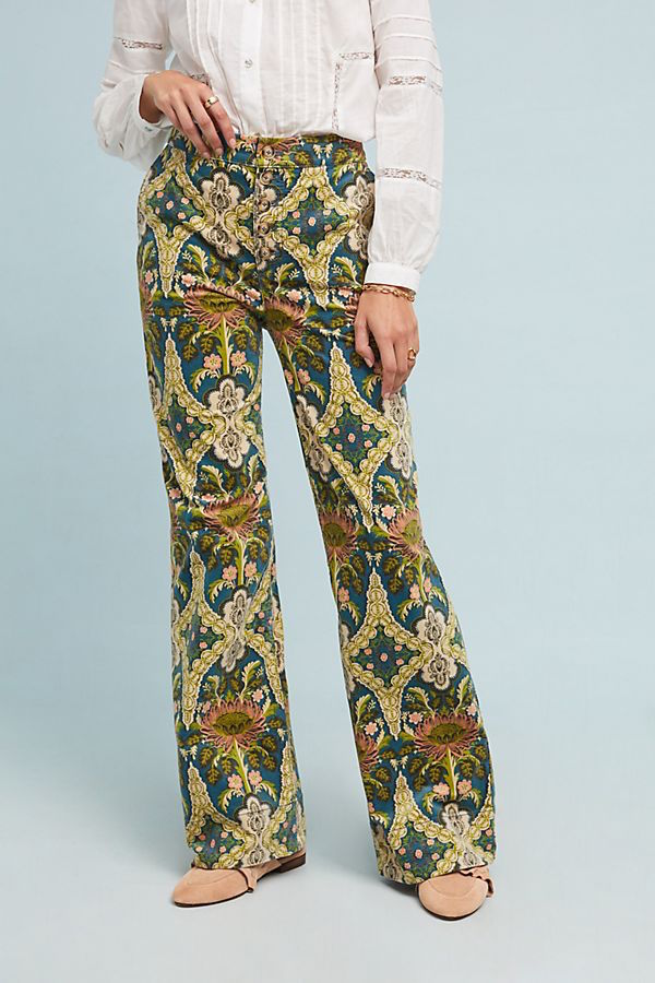 Pilcro corduroy high-rise wide-leg jean from