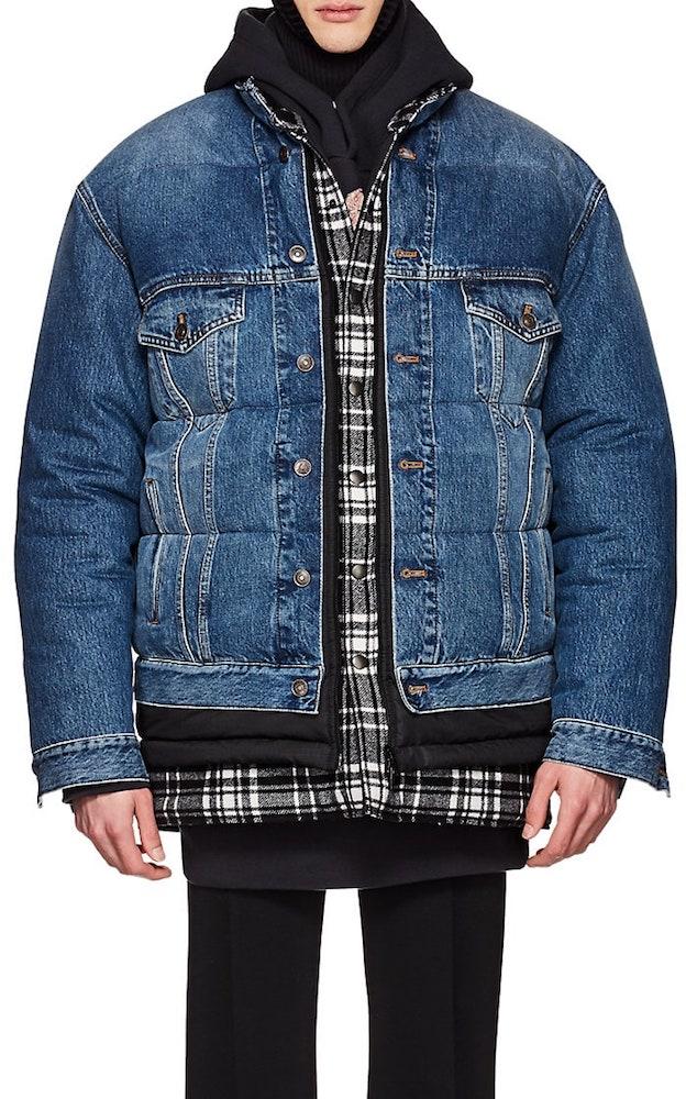 Balenciaga layered oversized puffer jacket