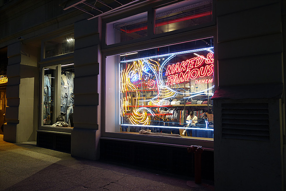 Naked & Famous store