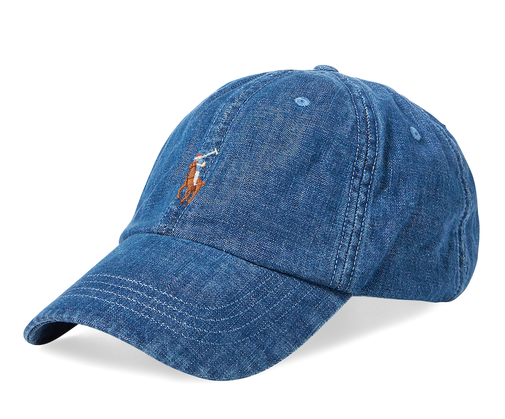 Denim baseball cap by Polo Ralph Lauren
