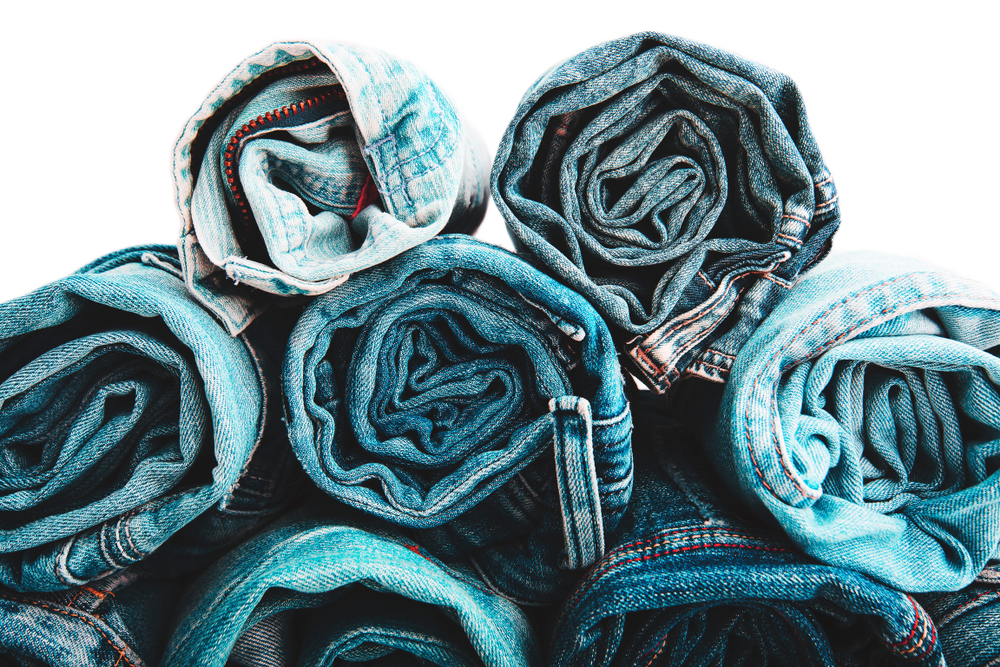 Rolled up denim
