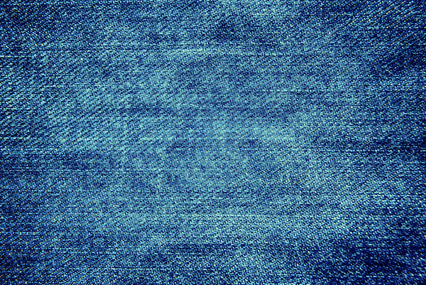 Blue denim texture background, close up