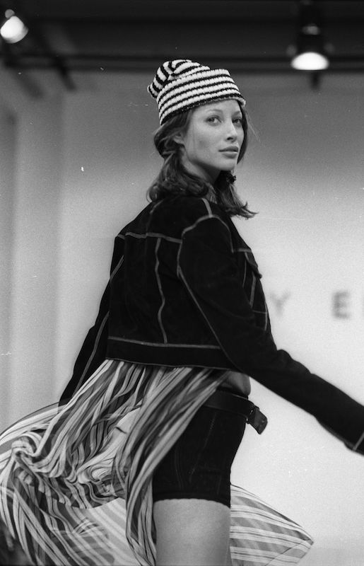 Christy Turlington on the runway.