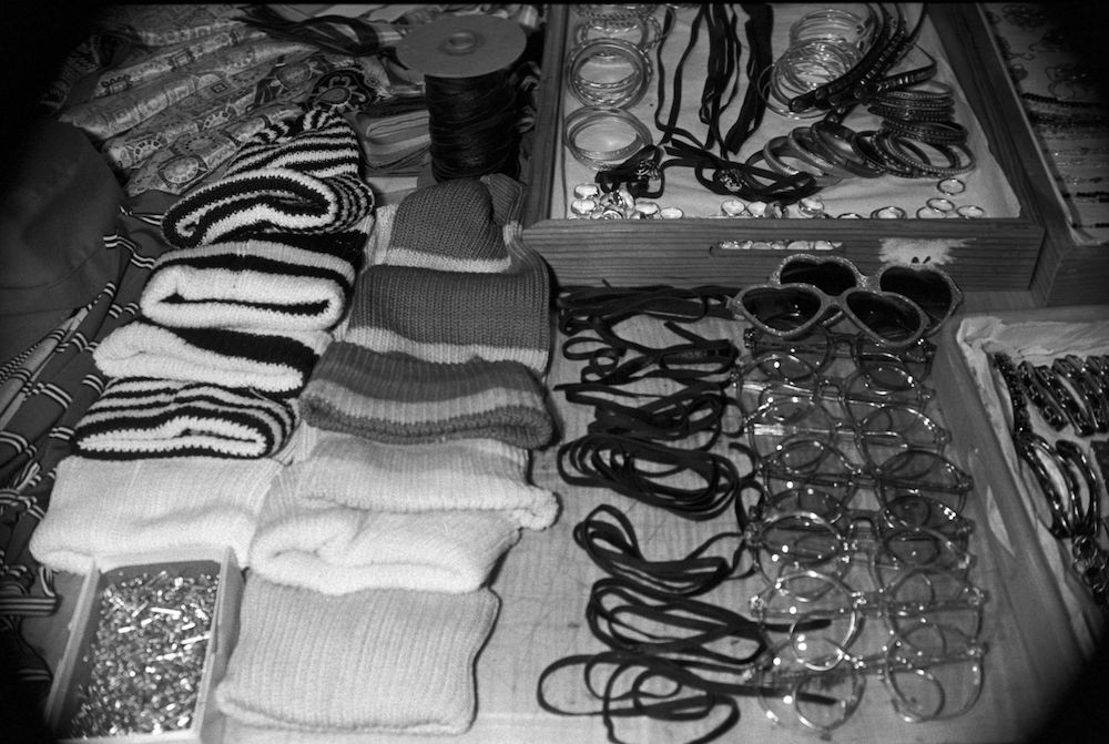 Assortment of accessories backstage.