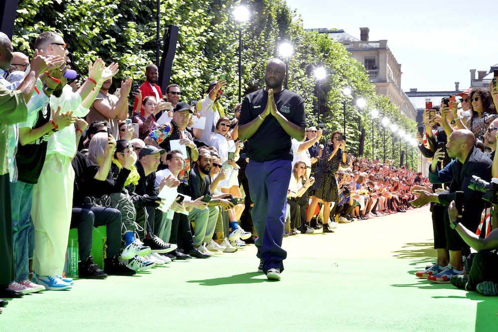 Virgil Abloh on the Louis Vuitton catwalk.