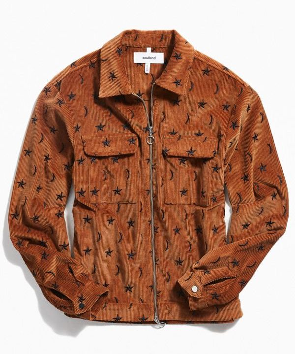 Soulland Percy corduroy embroidered jacket