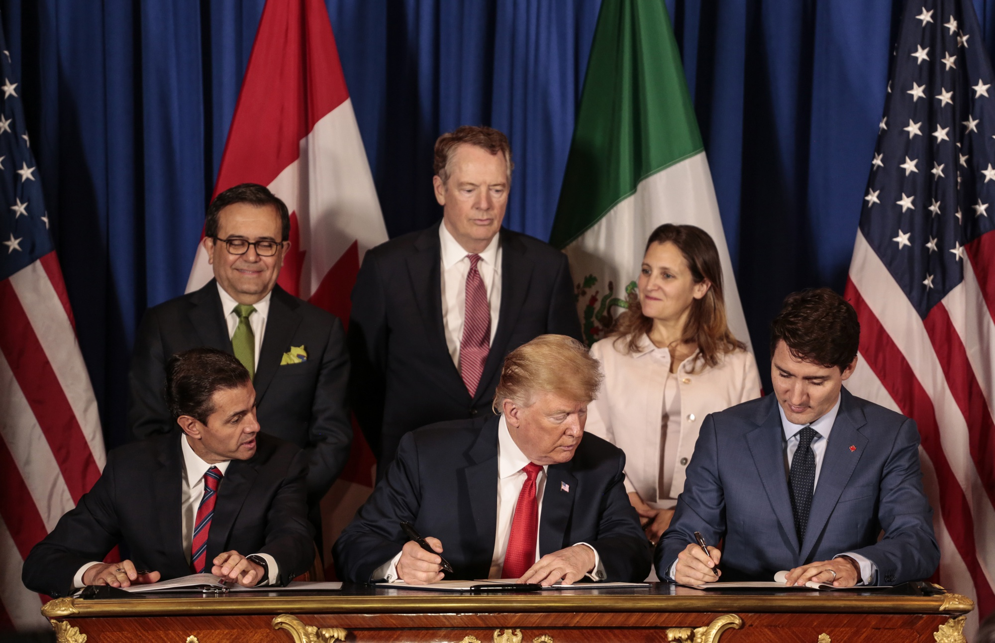 signing of the USMCA trade agreement