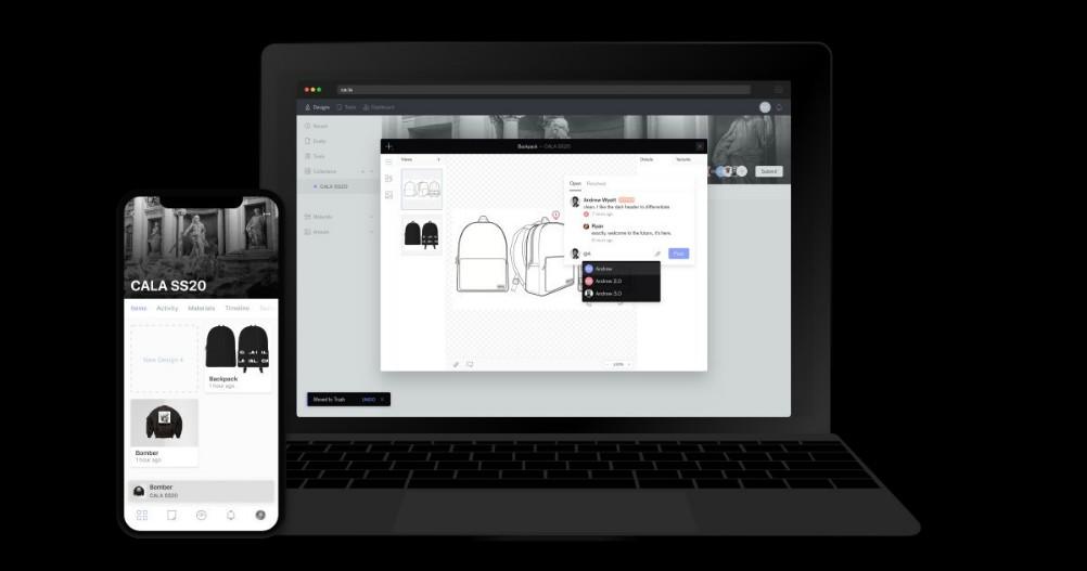 CALA apparel supply chain startup