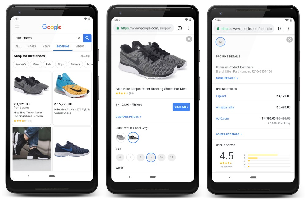 India gets Google Shopping feature