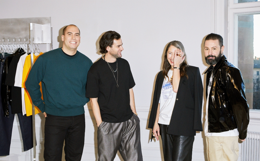 From the left, Jonathan Hirschfeld, CEO/commercial director and founder of Eytys, Max Schiller, creativedirector and founder of Eytys, Ann-Sofie Johansson, creativeadvisor at H&M and Ross Lydon, acting head of menswear design at H&M.